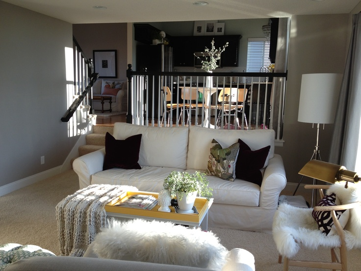 Painted Family Room Benjamin Moore LaPaloma Gray Color Match To SW Agreeable And Behr