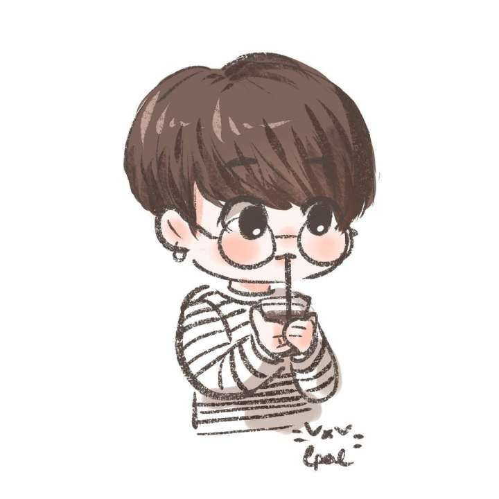 17 Jungkook Cartoon Drawing Cartoon Drawing In 2020 With