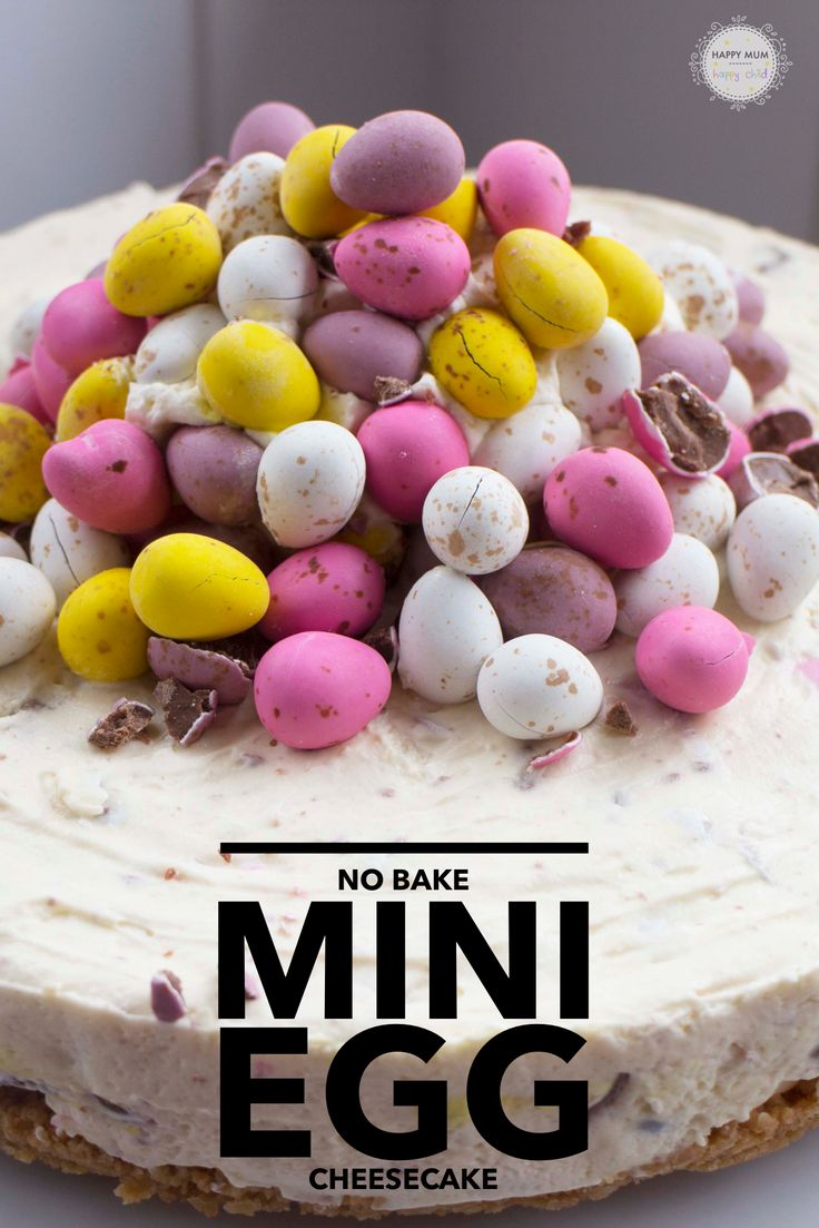 No Bake Mini Egg Cheesecake Recipe by Happy Mum Happy Child