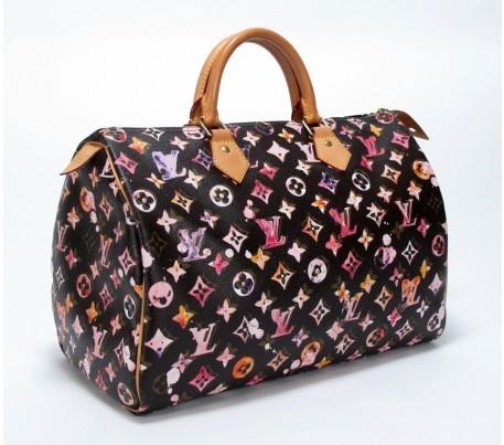 Louis Vuitton Richard Prince Watercolor Aquarelle Brown Speedy 35 Bag 2008 Limited Edition