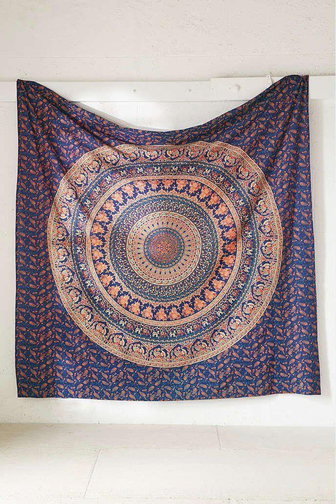 The Eberlee Large Hippie Tapestry Mandala Bohemian Elephant Bedspread Throw - GoGetGlam - 4