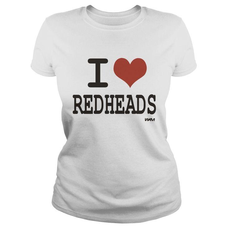 Black i love redheads by wam TShirts  Mens Premium TShirt