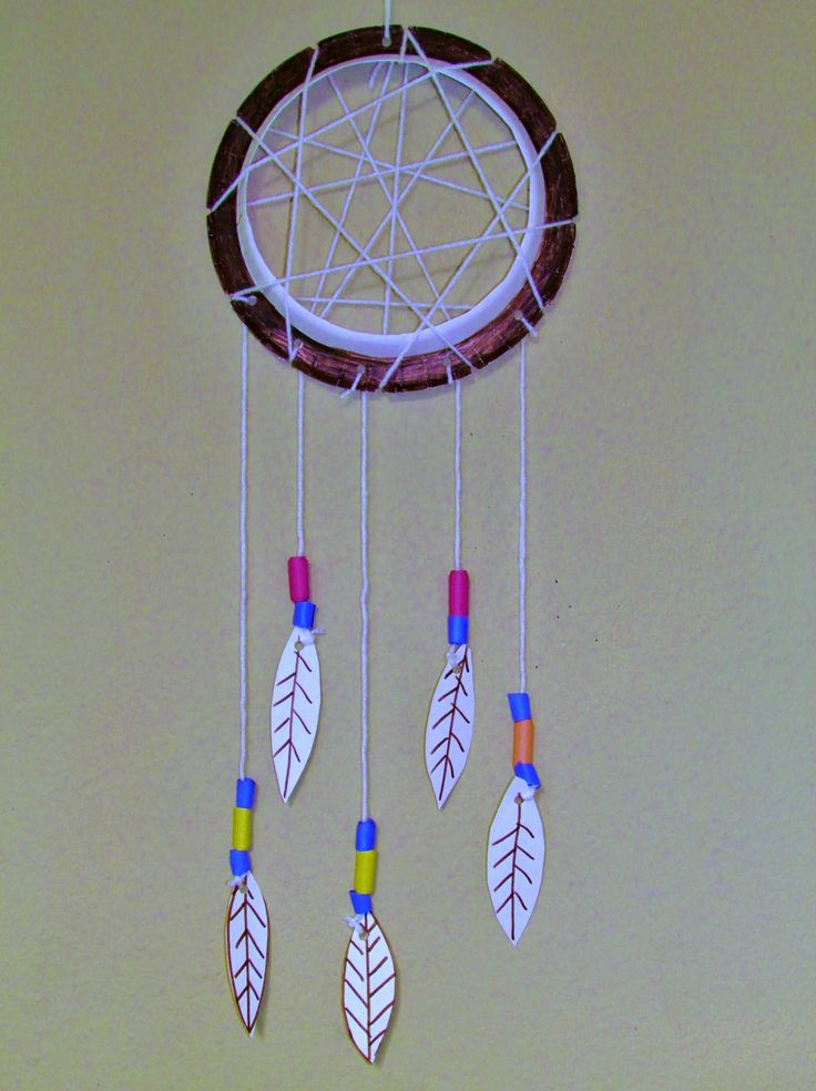How to make a paper plate dreamcatcher diy arts crafts for Dream catcher craft easy