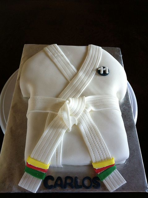 Karate suit by Lily's cakes, via Flickr