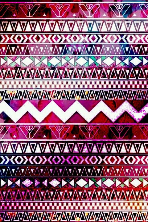 multi colored aztec pattern wallpaper ♥♥♥