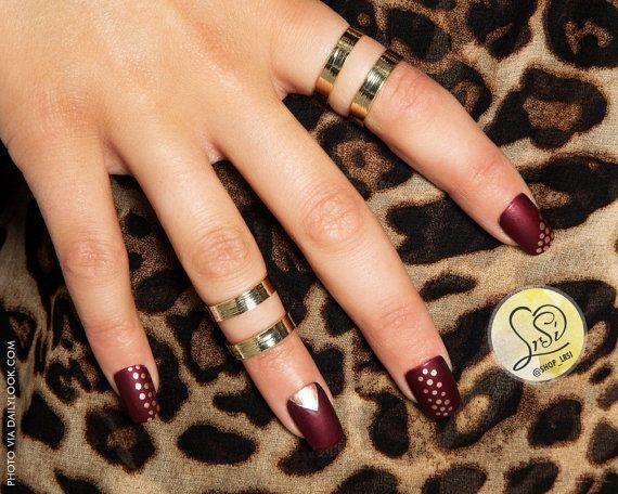 Rose Gold Burgundy Nails By Naree Snodgr Park Www Lrsi Etsy