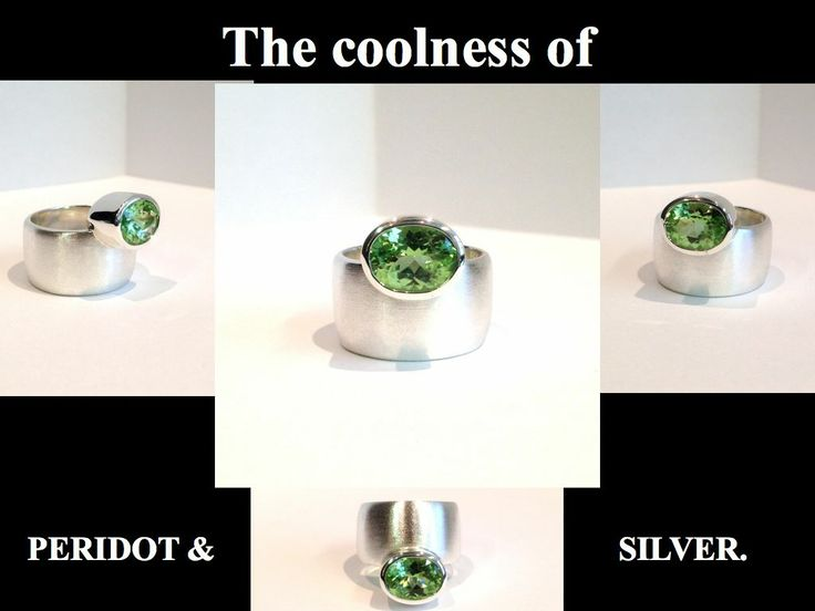 Sterling silver & peridot ring. FB Page   Kristina Karter Jewellery Design.