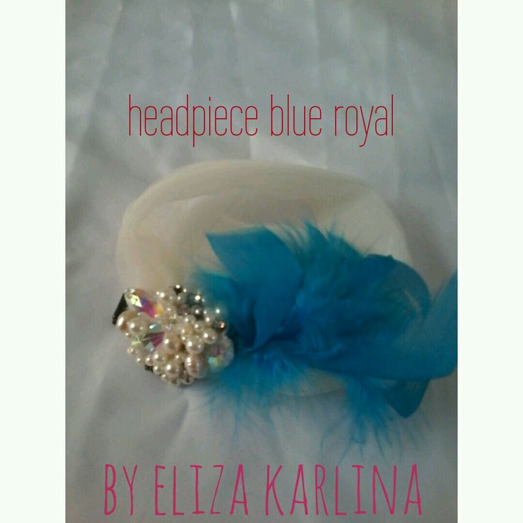 Sale light blue tulle headpiece
