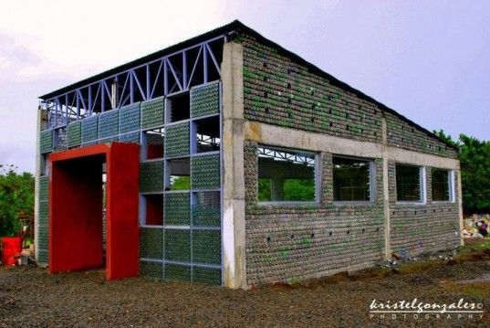 MyShelter Foundation - School made of plastic bottles in the Phillippines