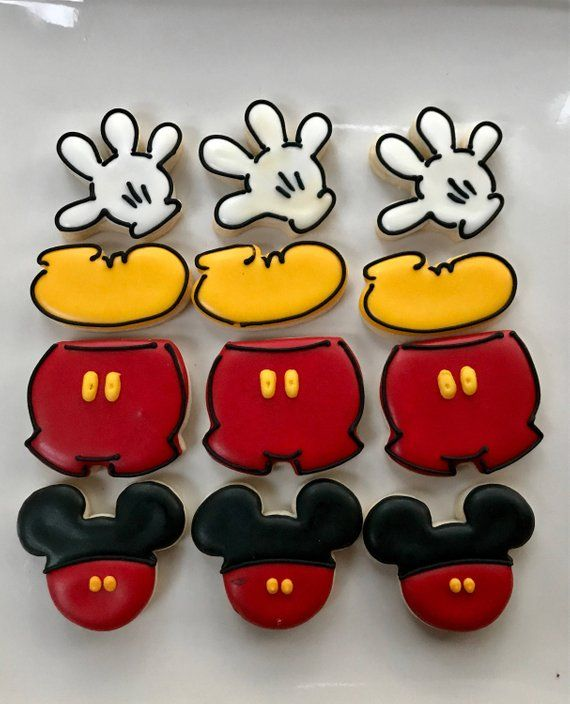 Mini Mickey Mouse Galletas Decoradas Favores Galletas