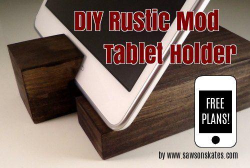madera de desecho fácil titular de bricolaje tableta, manualidades, bricolaje, decoración del hogar, proyectos de carpintería