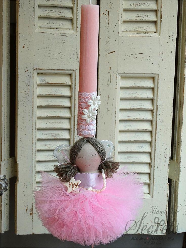 Picture of Λαμπάδα πασχαλινή νεράιδα ροζ