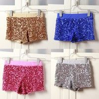 Wish | Beautiful lady, stage performance clothing hip-hop jazz dance club singer package buttocks sequins leggings shorts ds