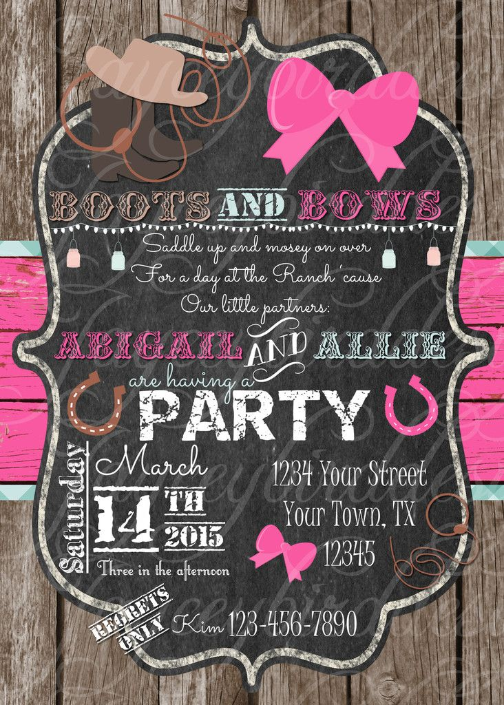 38 best Custom Printed Invitations images – Printed Birthday Invitations