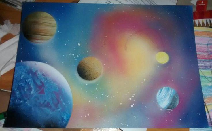 Spray paint art!!!❤