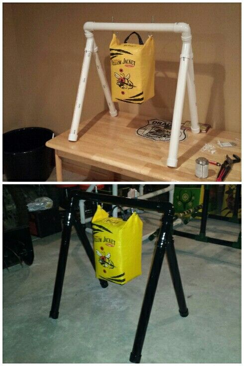 Shorty floating target PVC Bow Stand $30 from Menards. Aim Small Miss Small..! 20 Min worth of work..!