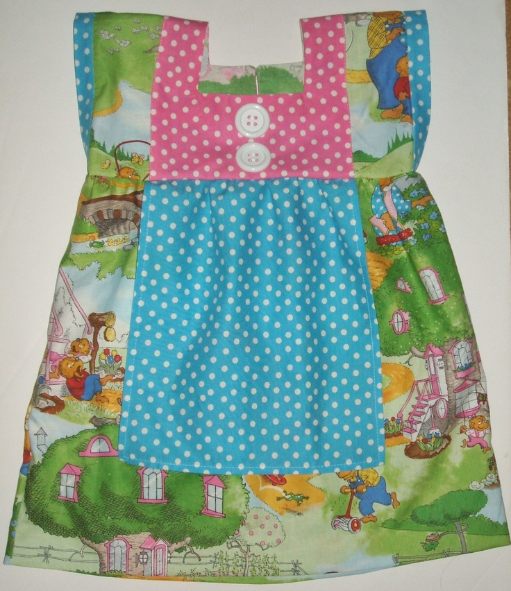 Berenstain Bears dress for my granddaughter--made with fabric from my store inventory.