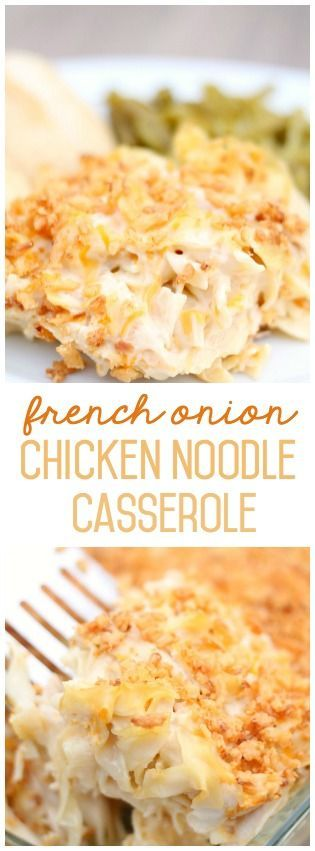 French Onion Chicken Noodle Casserole from SixSistersStuff.com. Even my picky eaters loved this!