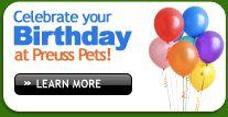 Celebrate your Birthday at Preuss!   Preuss Pets - Lansing, MI
