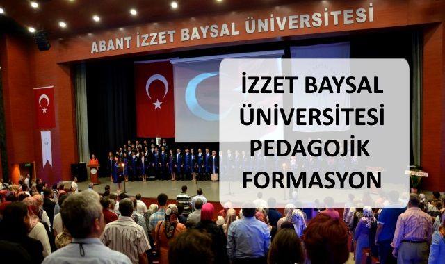 İzzet Baysal Üniversitesi Pedagojik Formasyon