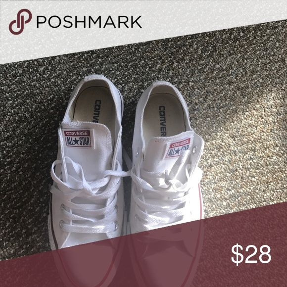 All white Chuck Taylor's gently worn Gently worn all white chuck Taylor's Converse Shoes Sneakers
