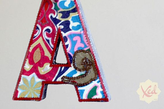 Fabric Letters - Hand-Made Bohemian Decor