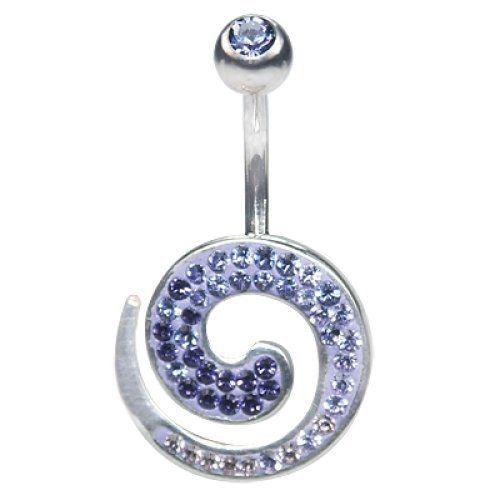 Piercing da Ombelico Crystal Evolution Spirale in Argento, Swarovski Viola e Lilla e Bananabell in Titanio Chirurgico Crystal Evolution http://www.amazon.it/dp/B00RTM5Z48/ref=cm_sw_r_pi_dp_99Uavb0F53Z44