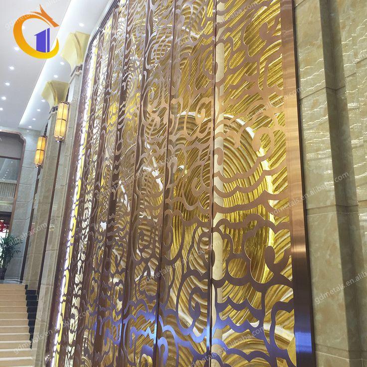 Slim stainless steel laser cut pattern wall panel