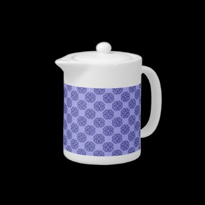Mediterranean Blue Teapot by Tammy Winand on Hot Plates Dinnerware
