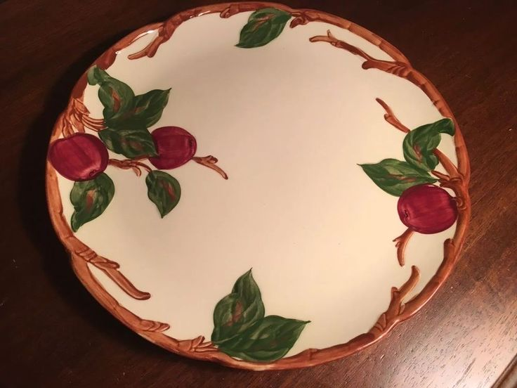"Vintage Franciscan Ware California Apple Large Platter Plate Tray 12.5"" Round #FranciscanWare"