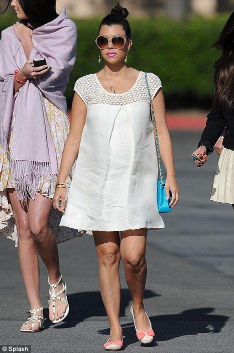 Kourtney Kardashian Easter chic.  #Pregnancy #maternity