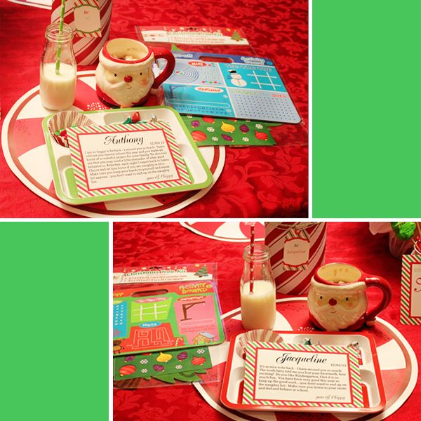 Elf on the shelf breakfast & free printables! Will do this next year for Buddy's arrival!