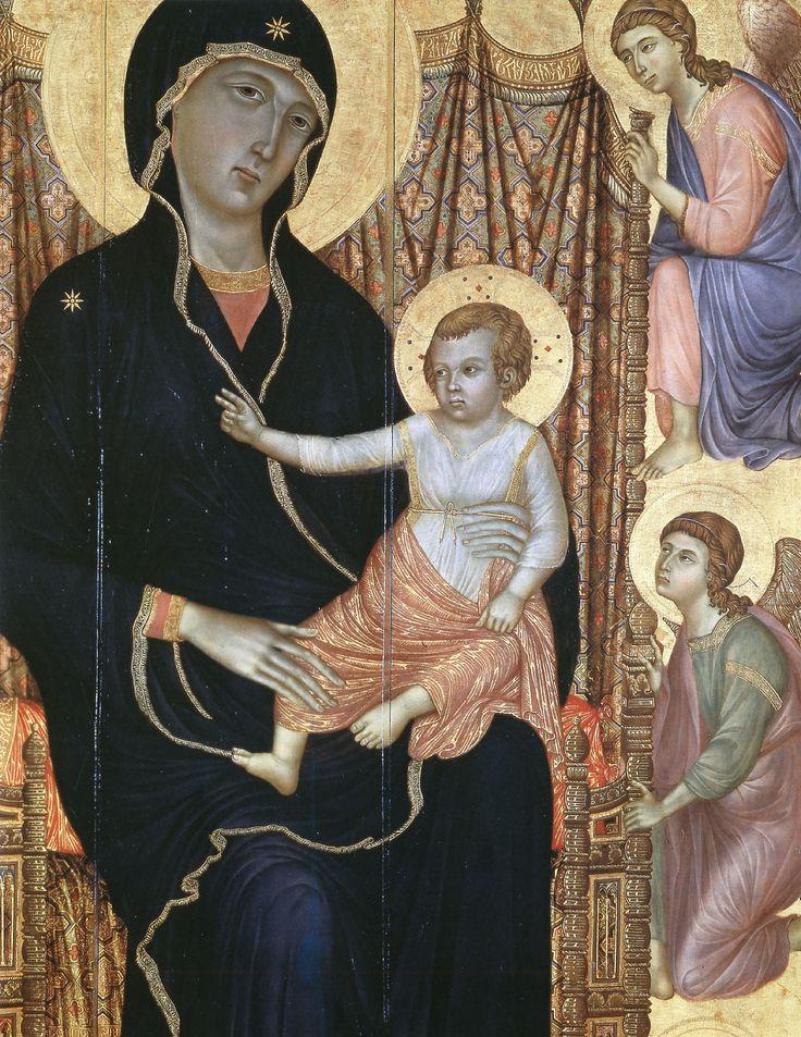 renaissance-art-blog:  Madonna and Child (Fragment) via Duccio di Buoninsegna