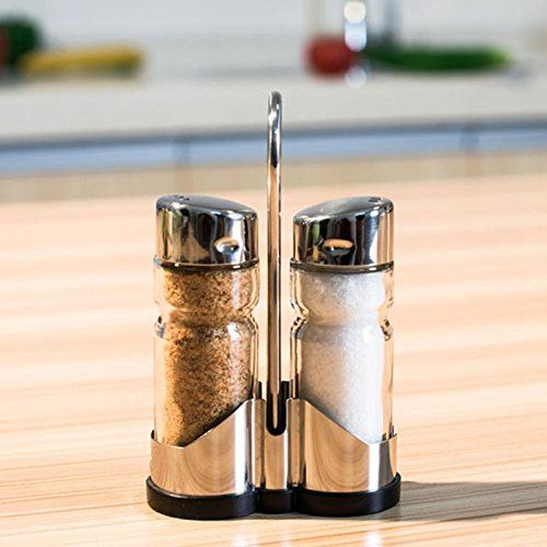 RB 2pcsset Glass Spice Jar Seasoning Box Salt Sugar Pepper Bottle Kitchen *** Check out this great product. (Note:Amazon affiliate link)