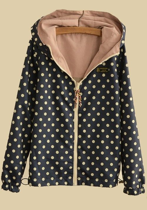 Pink Patchwork Long Sleeve Two-way Cotton Padded Coat