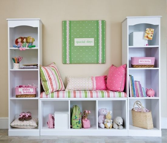 Turn 3 small bookcases into a reading nook!