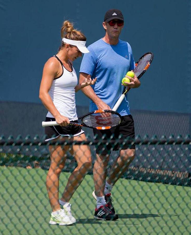 Simona Halep and Darren Cahill (coach)