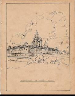 The University of Sto.Tomas, as sketched by Bernardo S.Rojas.