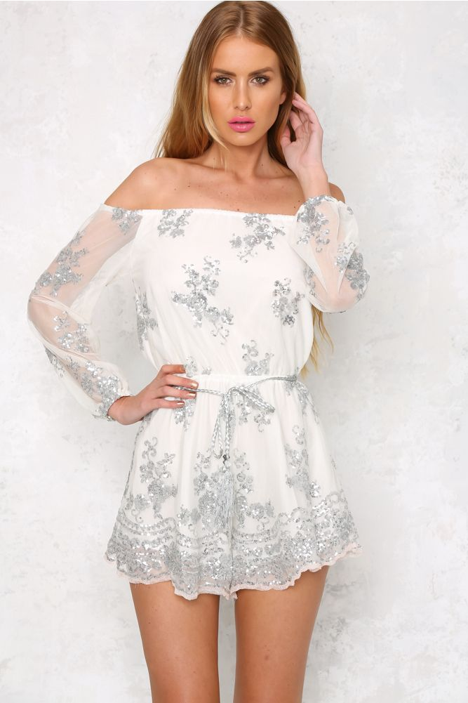 HelloMolly   Take Off Romper Silver - Rompers