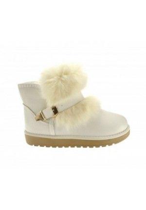 Cizme tip ugg ieftine Hoco albe,cizme de calitate la cel mai mic pret de pe piata din Romania.Model nou.