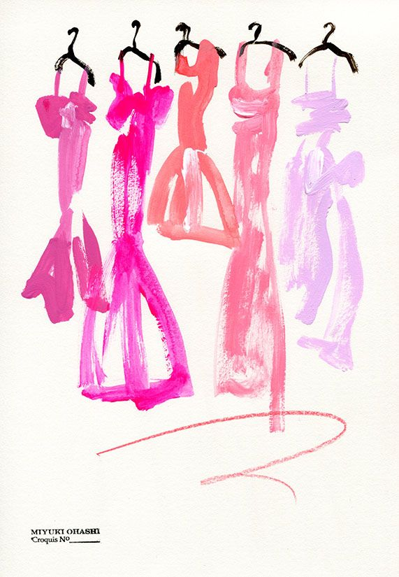 Pink dresses, by Miyuki Ohashi