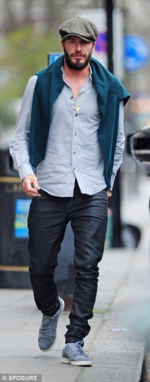 Harper Beckham skips around with glee with her daddy David #dailymail