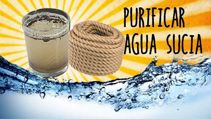 Experimentos Casero ¿Te imaginas que te pierdes por el campo y no encuentras agua limpia? Pues te enseñamos un experimento muy sencillo de filtrar agua en ca...