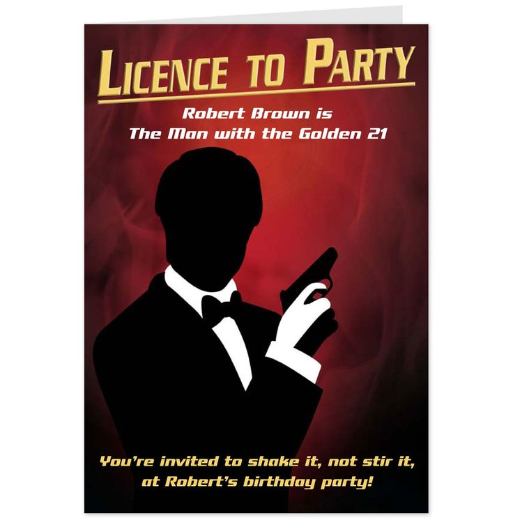 Wording For James Bond Birthday Invitation Louie 60th