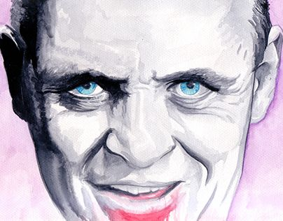 "Check out new work on my @Behance portfolio: ""Hannibal Lecter (Watercolour)"" http://on.be.net/1BICUyH"