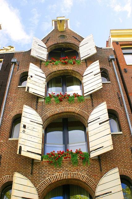Flower Window - Amsterdam Building