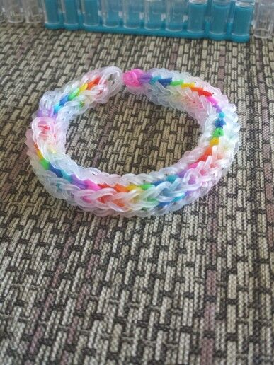 My first vortex bracelet from the monster tail loom