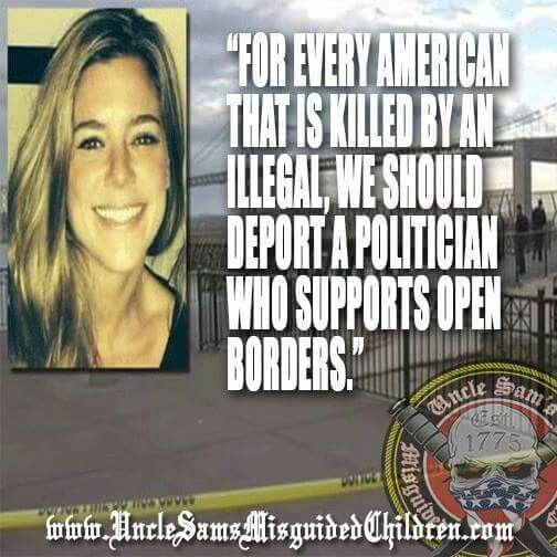 Kate Steinle was killed by a 7 time convicted felon illegal immigrant in district 8 - Nancy Pelosi (yes Nancy! the one Squabbling gun control every 5 minutes.)