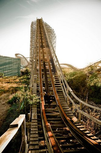 Six Flags New Orleans abandoned - another view of the theme park