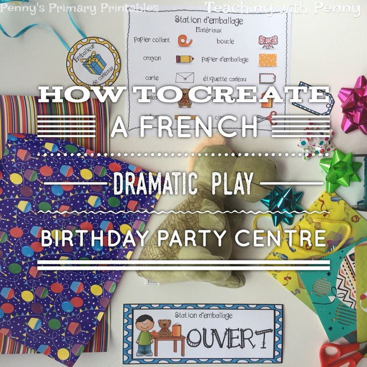 How to set up a French birthday party themed dramatic play center.